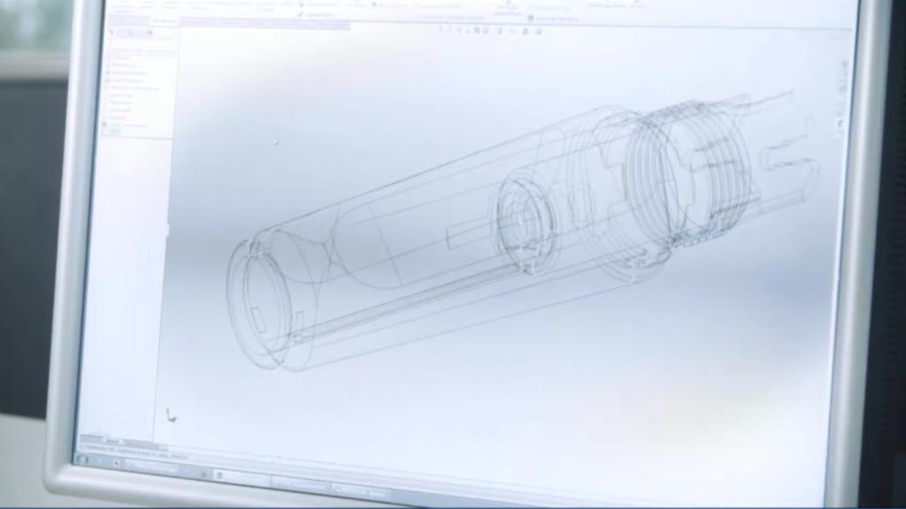 digital blueprints for a Lamy pen