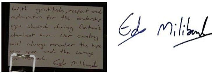 Ed Milliband's Handwriting