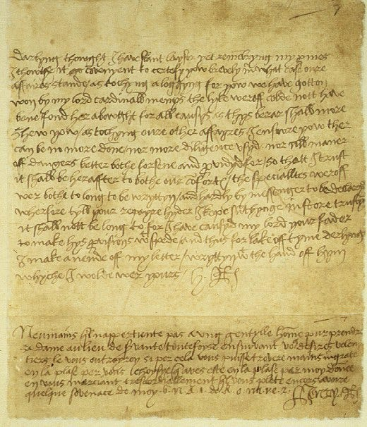 Henry VIII letter (credit Vatican Library)