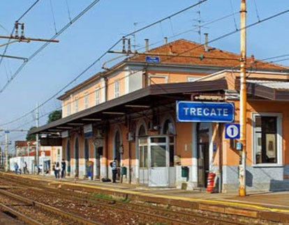 Italian town of Trecate near Milan