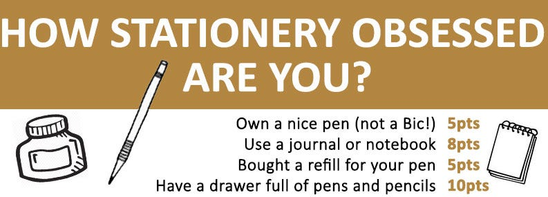 How Stationery Obsessed Are You?