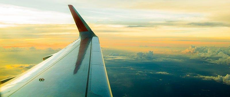 Proper Pen Storage: Travel; Aeroplane wing in flight