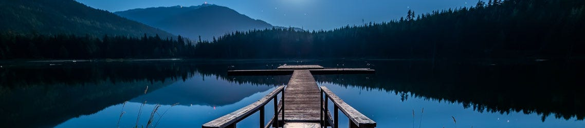 Blue Lake Scene