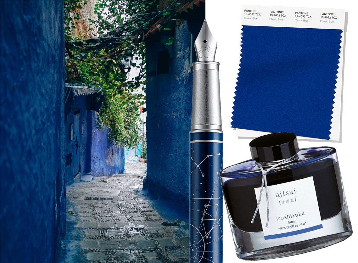 Pantone colour 'Classic Blue' in images