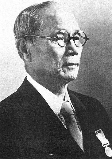 Mr. Kyugoro Sakata, founder of the Sailor pen company