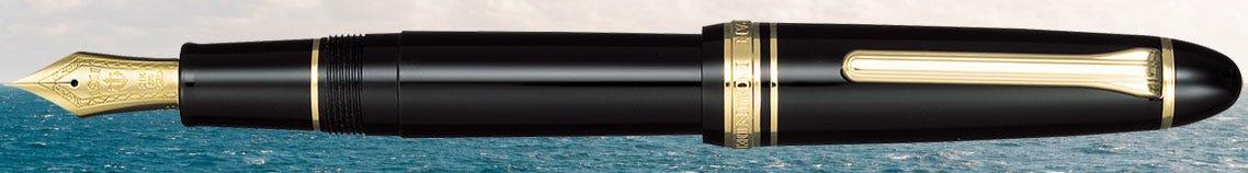 Sailor-1911L-Black-Gold-Trim-Fountain-Pen