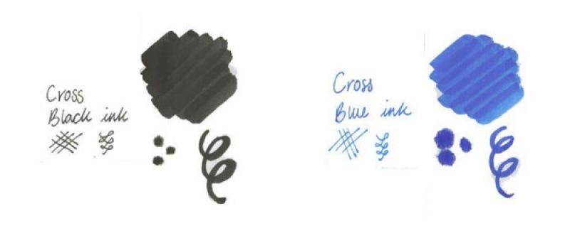 Black and Blue Ink from Cross