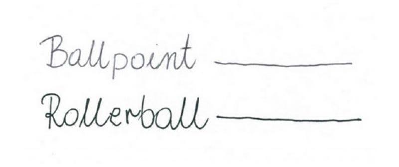 Rollerball vs Ballpoint Pen