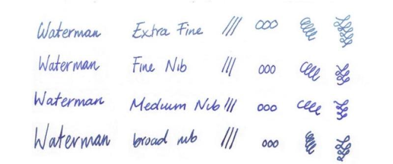 Waterman Nib Size Comparison