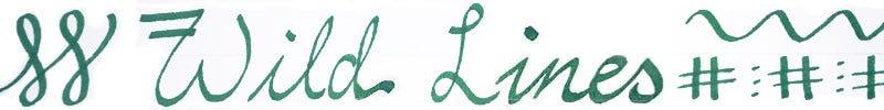 An image showing writing saying Wild Lines written using a stub nib